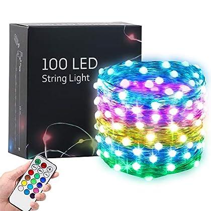 Hrabn Fairy Lights 32.8FT USB Led Lights Dream Christmas Lights Upgraded 100 LEDs Larger RGB Bulb Brighter Color…