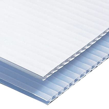 8c086fed72b Amazon.com   Greenstar 25 Sheets Corrugated Plastic 4MM White Sign Blanks  24