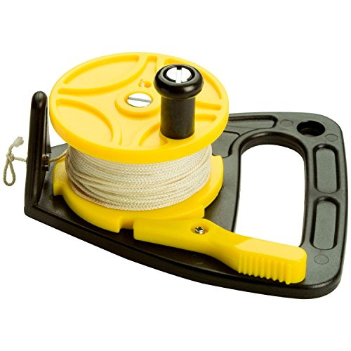 Scubamax Dive Flag - Scuba Max 150 foot Dive Reel Yellow with thumb stopper