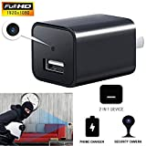 Heymoko Mini Charger Camera HD 1080P Motion Detection USB Wall Charger Security Surveillance, Black