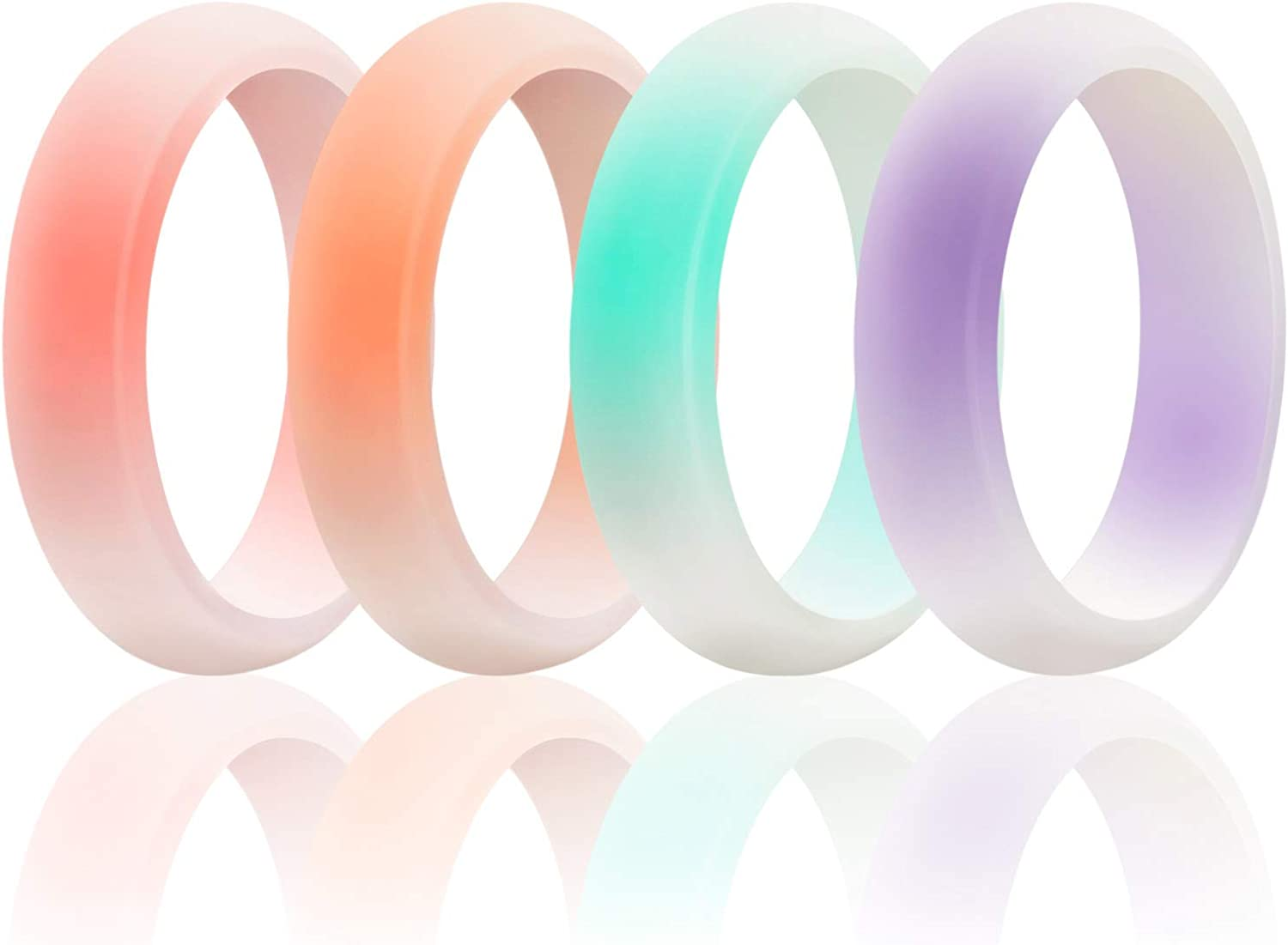 Great Replacement Multiple Pack Egnaro Silicone Wedding Ring for Women Womens Rubber Engagement Ring