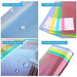 MILOLO Plastic Envelopes Poly Envelopes, 10 Pack US Letter A4 Size Transparent File Folders with Label Pocket& Snap Closure, Clear Filing Envelopes for School/Home/Work/Office, Assorted Colors
