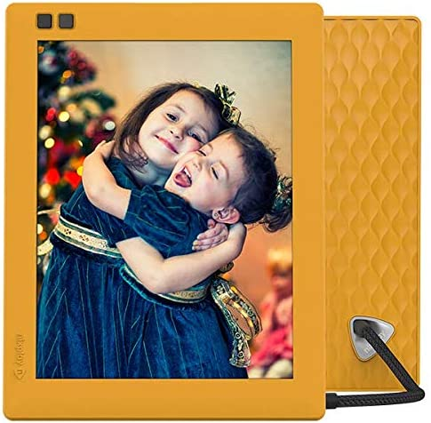 Nixplay Seed 8 Inch WiFi Digital Photo Frame Mango – Share Moments Instantly via App or E-Mail