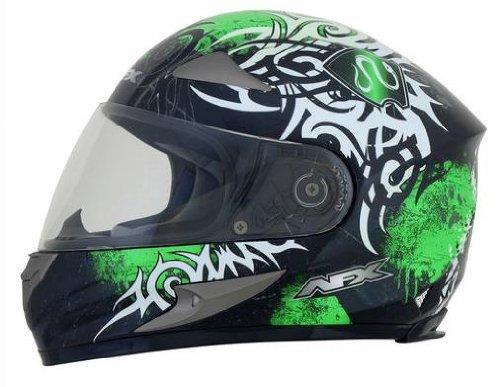 AFX FX-90 Danger Helmet , Gender: Mens/Unisex, Helmet Type: Full-face Helmets, Helmet Category: Street, Distinct Name: Bright Green, Primary Color: Green, Size: XS 0101-6904