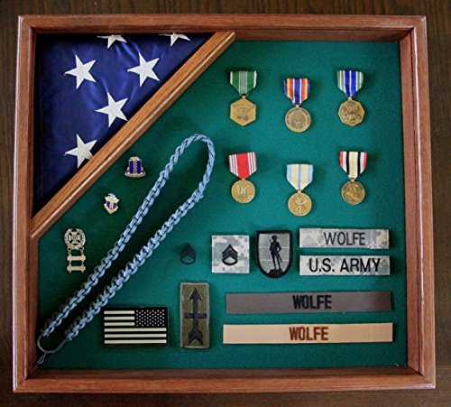 - Commemorative Flag and Medal Display Case