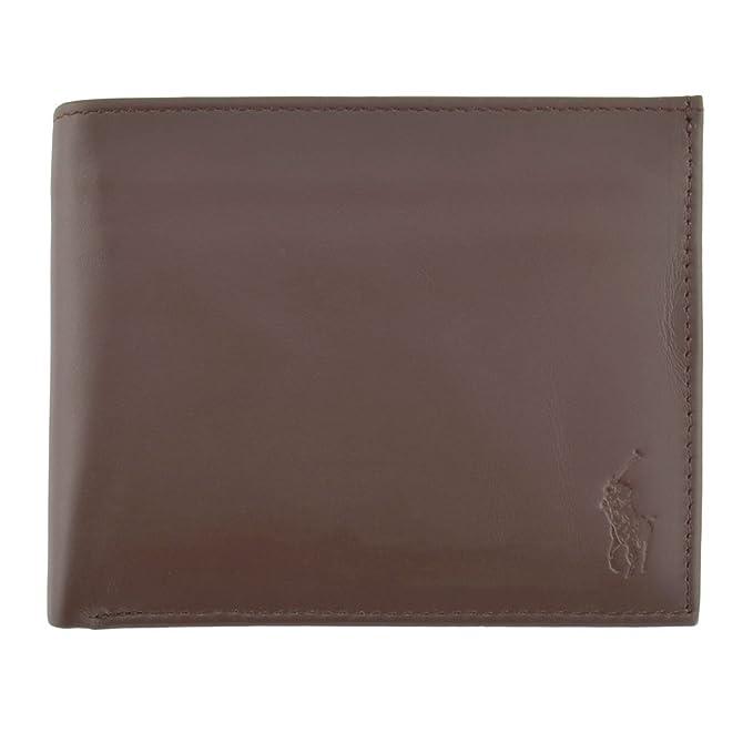 be754147 Polo Ralph Lauren Men's Leather Passcase Wallet, Brown at Amazon ...