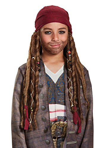 Disney POTC5 Jack Sparrow Bandana W/Dreads - Child,  Multicolor,  One Size ()