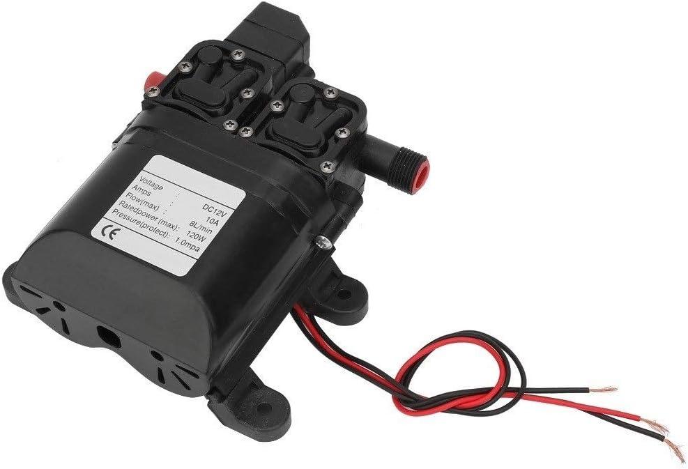 Bomba de agua de cebado automático - Alta presión con interruptor de presión automático Bomba de agua de diafragma de cebado automático DC 12V 120W