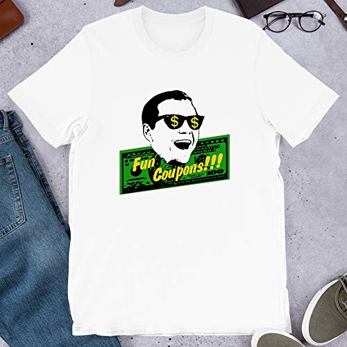 Fun Coupons The Wolf of Wall Street Movies Quotes Leonardo Dicaprio Martin Gift for Men Women Girls Unisex T-Shirt (White-S) (White-M) (White-L) (Best Price Pets Coupon)