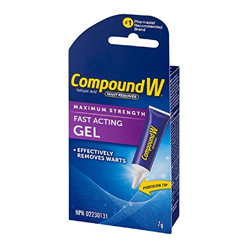 Compound W Salicylic Acid Wart Remover, Maximum Strength Fast Acting Gel, 7g