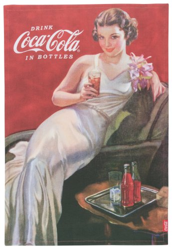Now Designs Coca- Cola Presented Dishtowel, Evening Gown Coke Girl ()