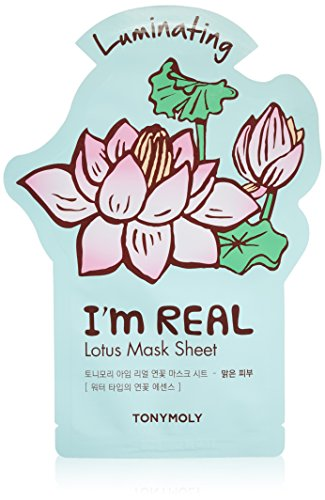 TONYMOLY I'm Real Lotus Luminating Tee Mask, 21 - I Am So Real