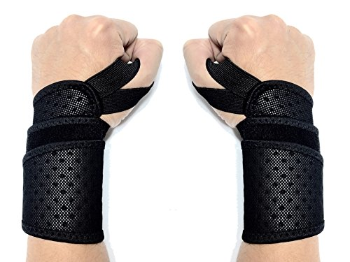 Wrist Wraps By Care Beyond Fitness – 18″ (Pair of Two Wraps) with Thumb Loop – Ultra Ventilative, Extremely Soft, Robust Weaving, Machine Washable, Best Quality Review