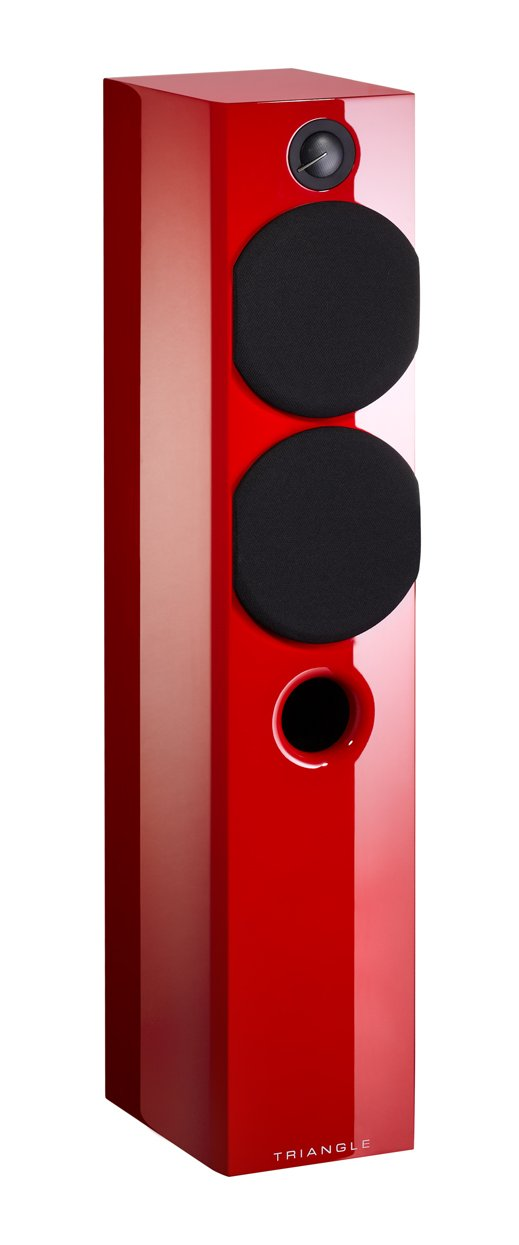 Triangle Color - Altavoz de torre (100 W), color rojo brillante