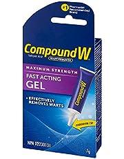 Compound W Salicylic Acid Wart Remover, Maximum Strength Fast Acting Gel, 7g