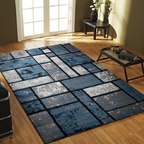 Ebern Designs Apodaca Dusty Brick Light Blue/Gray Area Rug Runner 3' x 8'