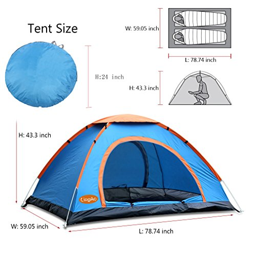 PREV NEXT Home u2014 Store u2014 Hiking and Backpacking Gear u2014 Tents u2014 Pop Up TentLingAo 2 Person ...  sc 1 st  MK Library : pop up tent 2 person - memphite.com