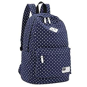 Enjoy Lightweight Casual Daypack Backpack for College Bookbag for Women Girls School Bags (navy blue)