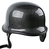 Tengchang-Motorcycle German Style DOT Carbon Fiber Cruiser Biker Half Helmet Size XL