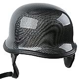Tengchang-Motorcycle German Style DOT Carbon Fiber Cruiser Biker Half Helmet Size XL