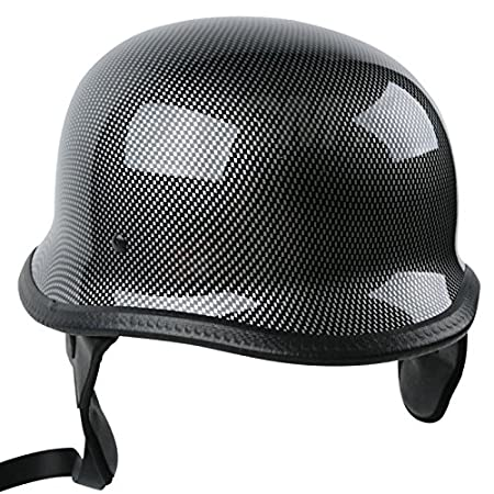 Tengchang-Motorcycle German Style DOT Carbon Fiber Cruiser Biker Half Helmet Size M