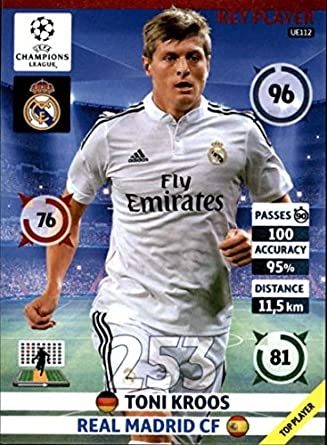 4cf850df0aa Amazon.com  2014-15 UEFA Champions League Adrenalyn XL Update Edition  Soccer  UE112 Toni Kroos Real Madrid Official Futbol Trading Card by  Panini  ...