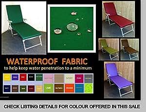 Zippy tejido impermeable ya tumbona cojín–Plain verde lima–Con asiento elevado Opción–muebles de jardín