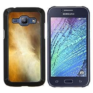 YiPhone /// Prima de resorte delgada de la cubierta del caso de Shell Armor - Universo de gas de la nube Galaxy amarillas Estrellas - Samsung Galaxy J1 J100