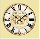 GK-Mediterranean Retro American Great Living Room Wall Clocks European Pastoral Simple Classical Decorative Silent Lighthouse Wall Watch,20inch 50CM