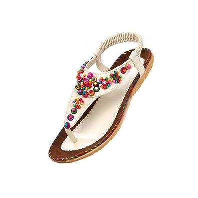 Womens Ladies Summer Thong Sandals Flats Toe Post Flip Flops Casual Boho Shoes