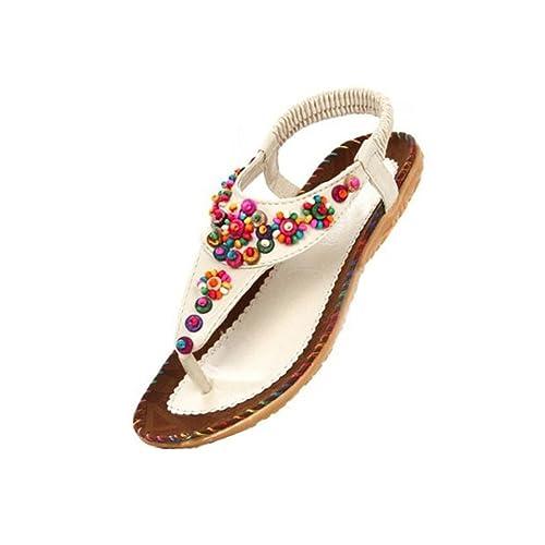 b849cf044f603d FUNOC Womens Ladies Summer Thong Sandals Flats Toe Post Flip Flops Casual  Boho Shoes  Amazon.ca  Shoes   Handbags
