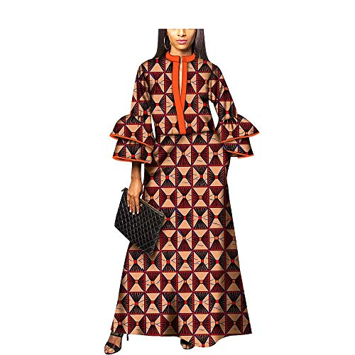 Traditional African Fabric Dresses Girls Ankara Dashiki Cocktail Colorful Clothing Designs Patterns 499 L ()