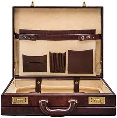 855b33e5852 Maxwell Scott Personalized Premium Quality Handmade Italian Full Grain  Leather Dark Brown Attache Case for Men