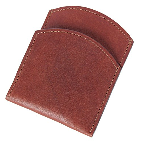Best Mens Leather Front Pocket Wallet Slim Two Pockets Brown USA Made