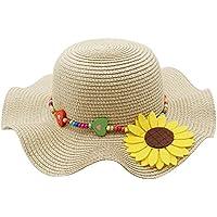 Kids Multi-Colors Large Brim Flower Beach Sun Hats