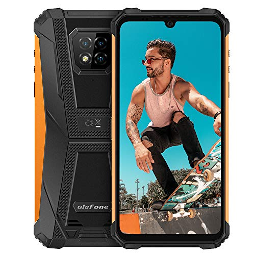 "4G Unlocked Rugged Phones, Ulefone Armor 8 Helio P60 4GB + 64GB Android 10 Octa-core, 16MP Four Camera 6.1"" HD+ 5580mAh Big Battery, International Dual SIM Factory Unlocked Rugged Smartphones -Orange"