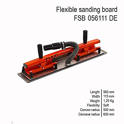 FLEXISANDER Flexible Sanding Board for Flat and Curved Surfaces Wood,Plaster,Fiberglass 840 x 115 mm // 33