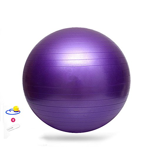 Cheap Aenmil Fitness Ball Exercise Balance Ball Static Strength Exercise Stability Ball with Pump – Improve Balance On This Stability Ball – Strengthen Your Core Exercise Ball – Perfect For Home Or Office (Purple)