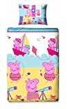 Character World Peppa Pig Nautical Single Duvet Bed Set Reversible 135x200 Pillowcase 48x74