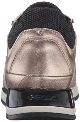 Geox D Shahira A, Baskets Basses Femme Gold (CHAMPAGNECB500)