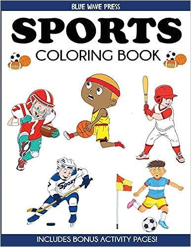 Sports Coloring Book For Kids Football Baseball Soccer