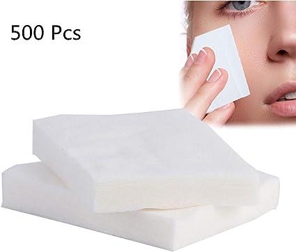 500 Pcs Bastoncillo de algodón, Desmaquillante cosmético y limpiador facial, Húmedo y seco/limpio para el desmaquillador/facial: Amazon.es: Belleza