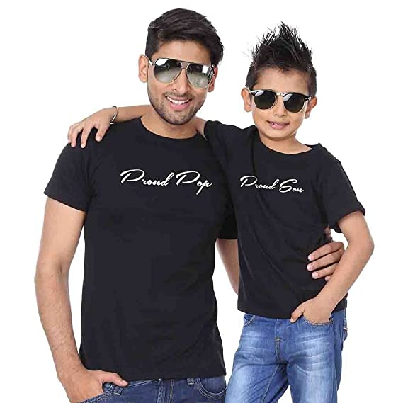 Bon Organik Black Proud Father Son Best Family Matching Father And