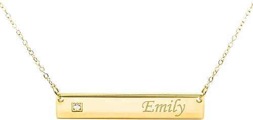 Elegante Collar Elisabeth Auténtico Bañado en Oro Nombre con Cadena