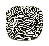 Urban Shop Faux Fur Animal Print Pouf, Zebra