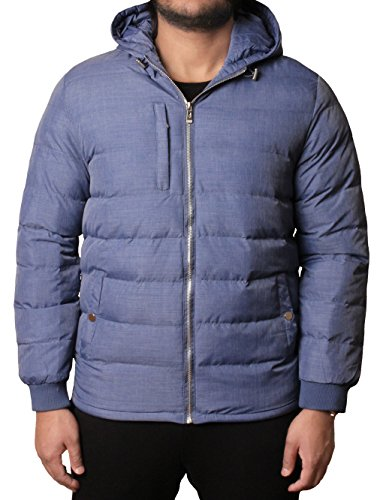 Marl Padded Winter Coat D Jacket Warm Hooded Bubble Puffer project Blue Mens xnqxUZw7a