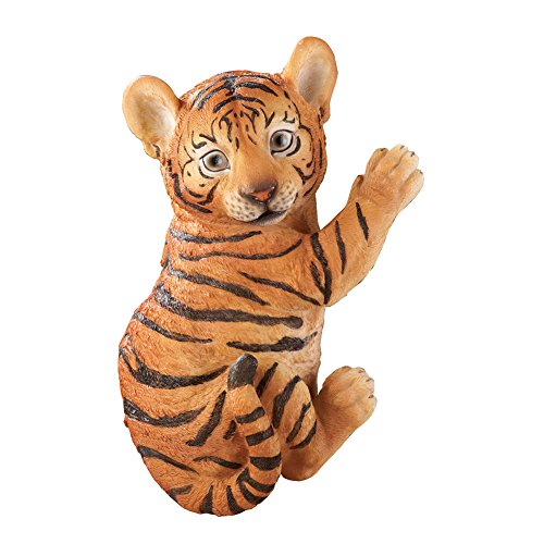 Collections Etc Adorable Climbing Tiger Animal Unique Safari Garden Decoration, Orange For Sale