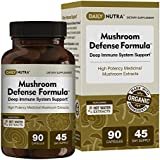 Mushroom Defense Formula - Deep Immune System Support 1000mg - Medicinal Mushrooms Hot Water Extracted - Reishi, Chaga, Maitake, Shiitake & Turkey Tail