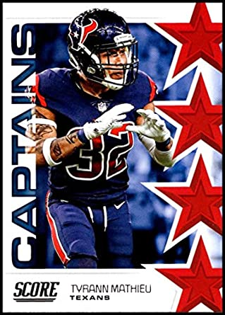 aad8db50 Amazon.com: 2019 Score NFL Captains #28 Tyrann Mathieu Houston ...