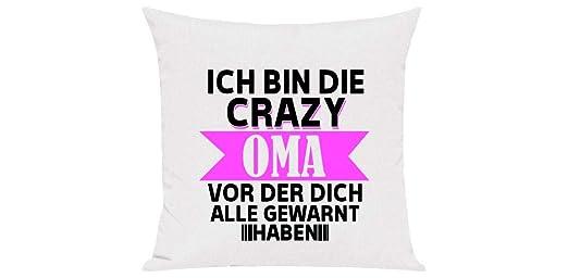 Camiseta Stown sofá cojín, Soy el Crazy Abuela Antes de la ...